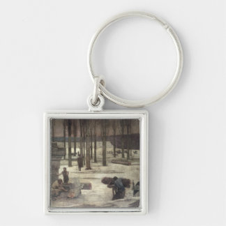 Winter, 1889-93 Silver-Colored square key ring
