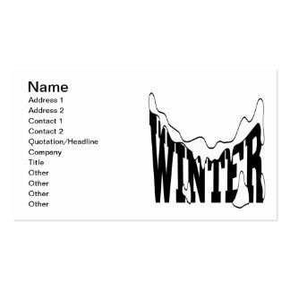 Winter 1 pack of standard business cards