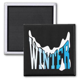 Winter 2 square magnet