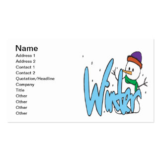 Winter 3 pack of standard business cards