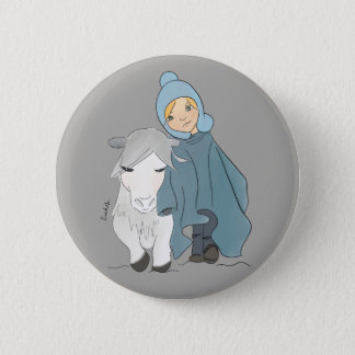 Winter 6 Cm Round Badge