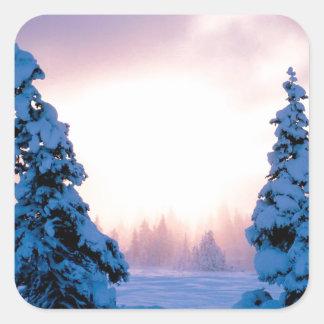 Winter A New Season Awaits Square Sticker