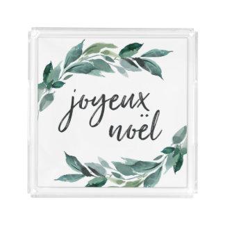 Winter Abundance | Joyeux Noel Acrylic Tray