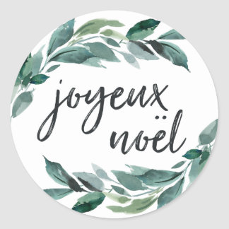 Winter Abundance | Joyeux Noel Classic Round Sticker