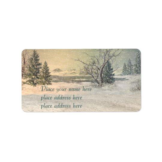 Winter adress lable address label