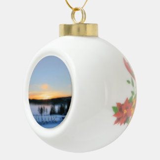 Winter Afternoon Ceramic Ball Christmas Ornament