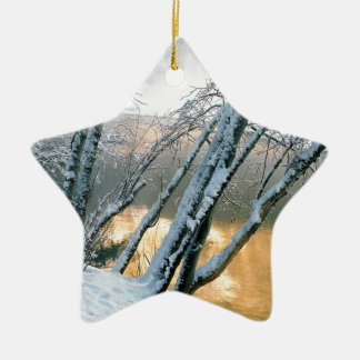 Winter Alder Trees Merced River Yosemite Christmas Ornament