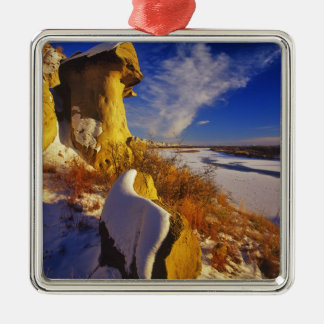 Winter along the Missouri River near Christmas Ornament