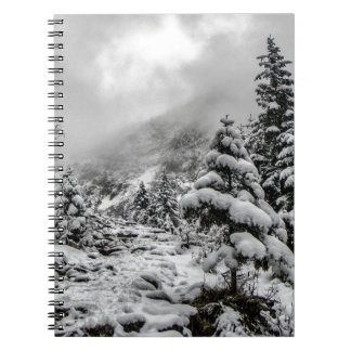 Winter amongst the clouds notebook