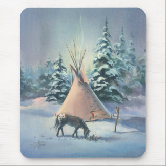 WINTER APPALOOSA by SHARON SHARPE Mouse Mat