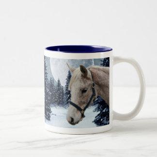 Winter Arabian #1 Two-Tone Coffee Mug