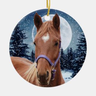 Winter Arabian #2 Christmas Ornament
