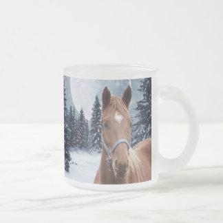 Winter Arabian #2 Frosted Glass Coffee Mug