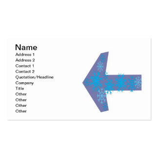 Winter Arrow Left Pack Of Standard Business Cards