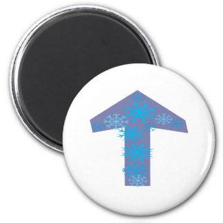 Winter Arrow Up 6 Cm Round Magnet