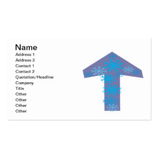 Winter Arrow Up Pack Of Standard Business Cards