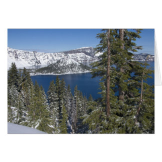 Winter at Crater Lake Greeting Cards