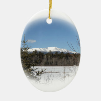 Winter at Katahdin Christmas Ornament