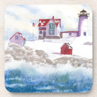 winter at Nubble LIghthouse in Maine Coaster