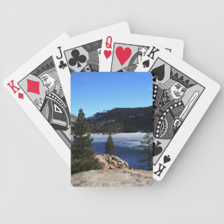 Winter at Pinecrest Lake Poker Deck