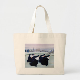 Winter at the Convent Large Tote Bag