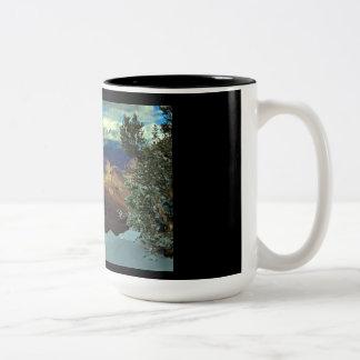 Winter at the Grand Canyon Two-Tone Coffee Mug