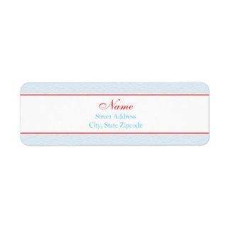 Winter Baby Shower Address Label