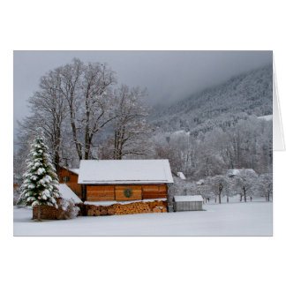 Winter Barn Holiday Card