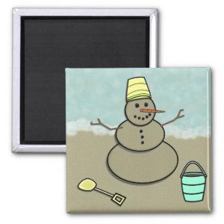 Winter Beach Magnet