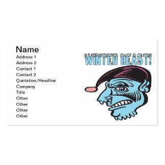 Winter Beast 2 Pack Of Standard Business Cards