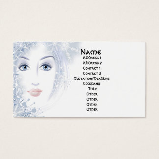 Winter Beauty Lady Business Cards