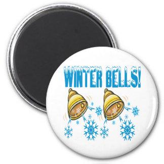 Winter Bells 6 Cm Round Magnet