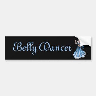 Winter Belly Dancer Sticker Bumper Sticker