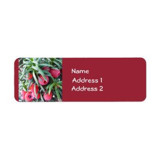 Winter Berries Custom Labels