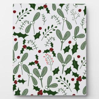 Winter berries plaque