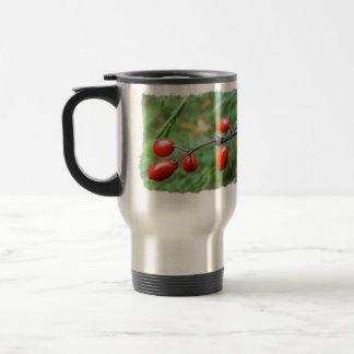 Winter Berries Stainless Steel Travel Mug