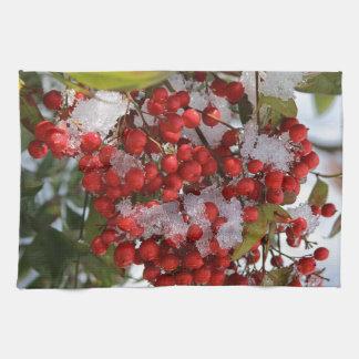 Winter Berries. Tea Towel