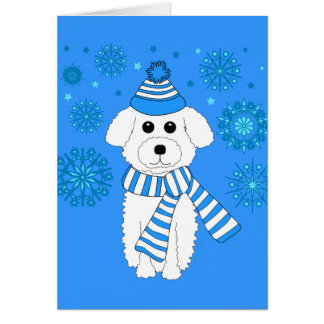 Winter Bichon Card