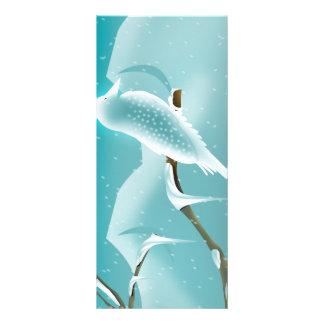 Winter Bird Christmas Rack Card