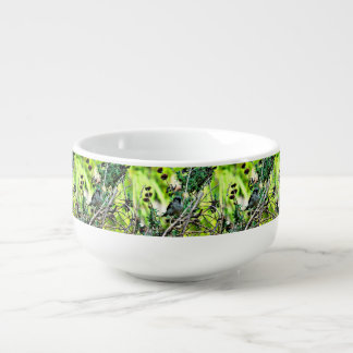 Winter Bird in Lavender Soup Bowl