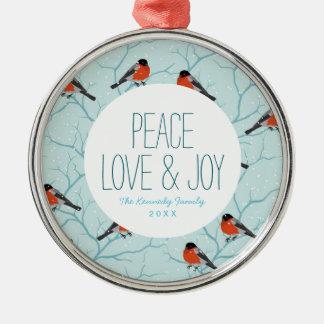 Winter Bird Pattern Christmas Ornament