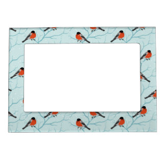 Winter Bird Pattern Magnetic Picture Frame