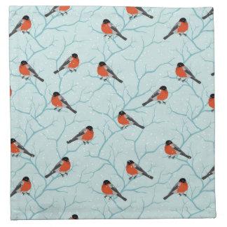 Winter Bird Pattern Napkin