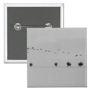 Winter birds 15 cm square badge
