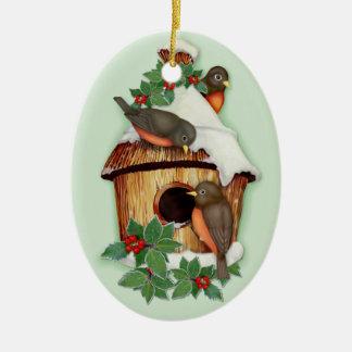 Winter Birds Christmas Ornament
