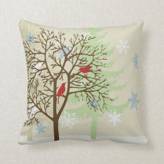Winter Birds Throw Cushions