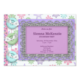 Winter Birthday 13 Cm X 18 Cm Invitation Card