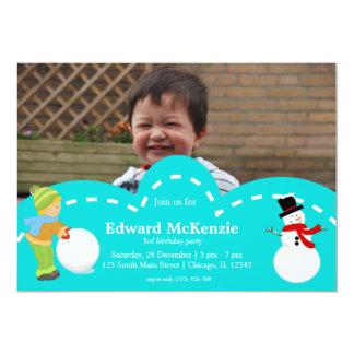 Winter birthday 13 cm x 18 cm invitation card