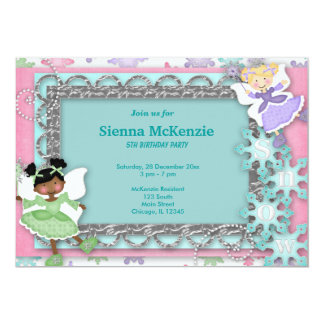 Winter Birthday Personalized Announcements