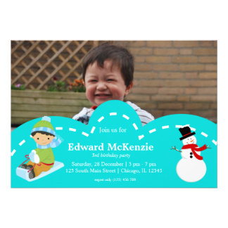 Winter birthday invite